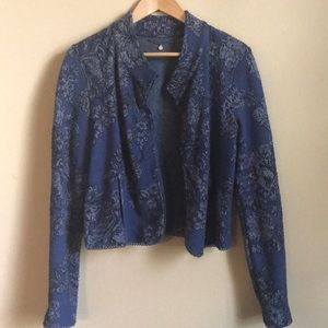 Anthropologie Knitted & Knotted Jacquard Cardigan